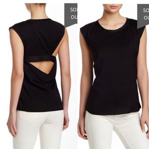HELMUT LANG back cut out strap sleeveless top